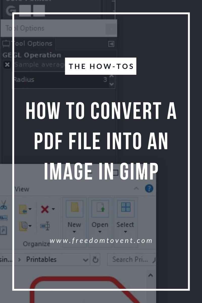 How to Convert a PDF File into an Image in GIMP